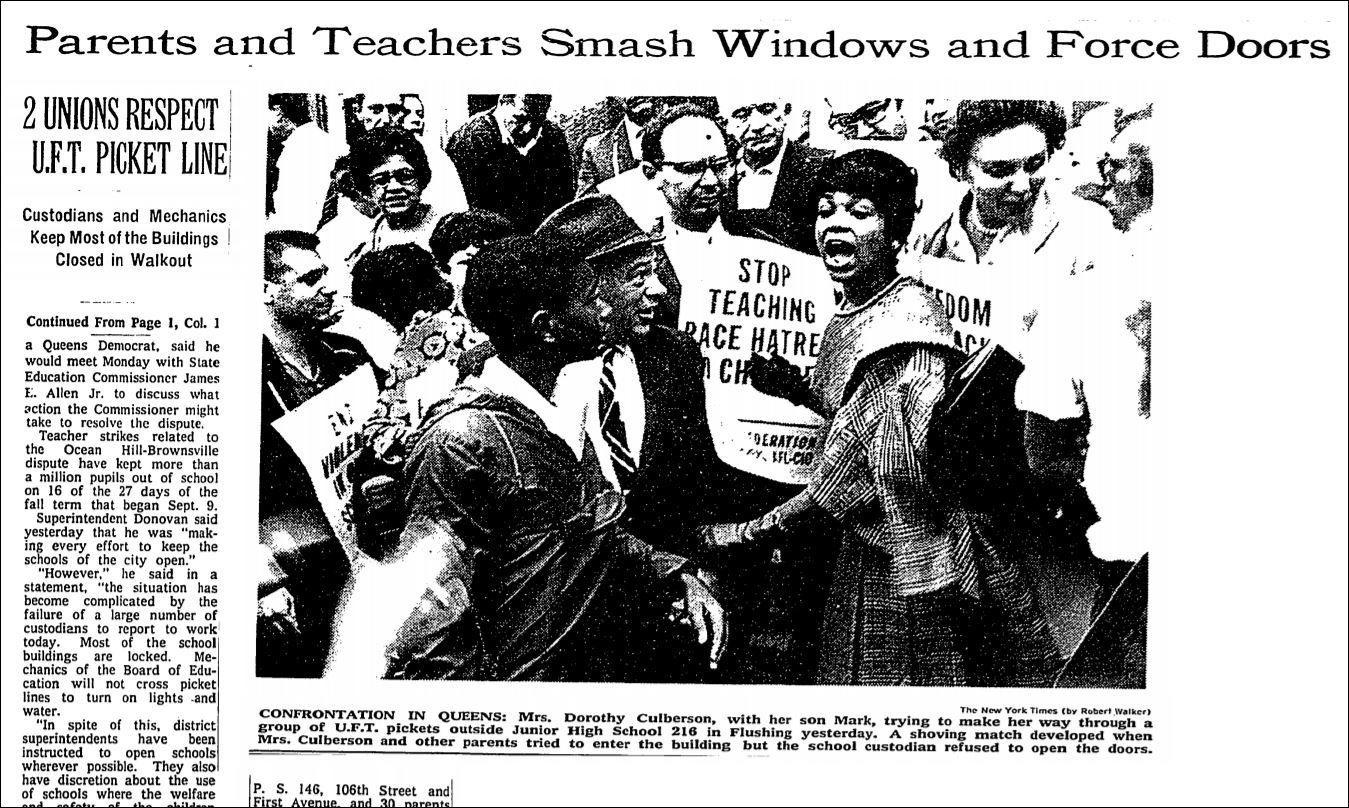 New York City 1968 wasn't a teachers strike; it was a community ...